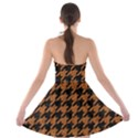 HOUNDSTOOTH1 BLACK MARBLE & RUSTED METAL Strapless Bra Top Dress View2
