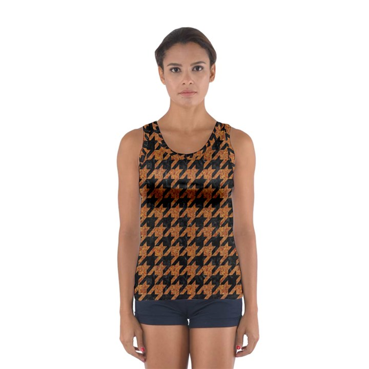 HOUNDSTOOTH1 BLACK MARBLE & RUSTED METAL Sport Tank Top