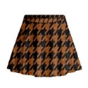 HOUNDSTOOTH1 BLACK MARBLE & RUSTED METAL Mini Flare Skirt View1