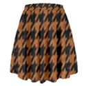 HOUNDSTOOTH1 BLACK MARBLE & RUSTED METAL High Waist Skirt View2