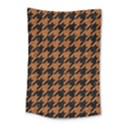 HOUNDSTOOTH1 BLACK MARBLE & RUSTED METAL Small Tapestry View1