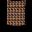 HOUNDSTOOTH1 BLACK MARBLE & RUSTED METAL Large Tapestry View2