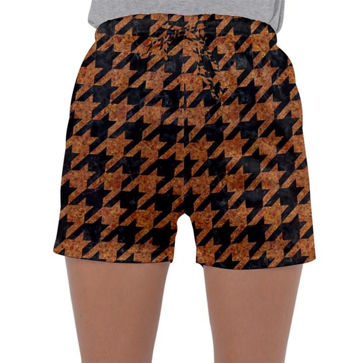 HOUNDSTOOTH1 BLACK MARBLE & RUSTED METAL Sleepwear Shorts