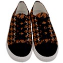 HOUNDSTOOTH1 BLACK MARBLE & RUSTED METAL Men s Low Top Canvas Sneakers View1