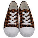 HOUNDSTOOTH1 BLACK MARBLE & RUSTED METAL Kids  Low Top Canvas Sneakers View1
