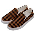 HOUNDSTOOTH1 BLACK MARBLE & RUSTED METAL Men s Canvas Slip Ons View2