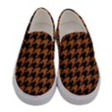HOUNDSTOOTH1 BLACK MARBLE & RUSTED METAL Women s Canvas Slip Ons View1