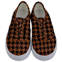 Houndstooth1 Black Marble & Rusted Metal Kids  Classic Low Top Sneakers