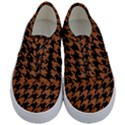 HOUNDSTOOTH1 BLACK MARBLE & RUSTED METAL Kids  Classic Low Top Sneakers View1