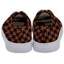 HOUNDSTOOTH1 BLACK MARBLE & RUSTED METAL Kids  Classic Low Top Sneakers View4
