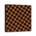 HOUNDSTOOTH2 BLACK MARBLE & RUSTED METAL Mini Canvas 6  x 6  View1