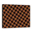 HOUNDSTOOTH2 BLACK MARBLE & RUSTED METAL Canvas 20  x 16  View1