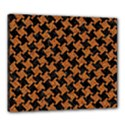 HOUNDSTOOTH2 BLACK MARBLE & RUSTED METAL Canvas 24  x 20  View1