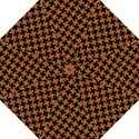 HOUNDSTOOTH2 BLACK MARBLE & RUSTED METAL Folding Umbrellas View1
