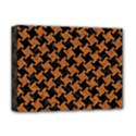HOUNDSTOOTH2 BLACK MARBLE & RUSTED METAL Deluxe Canvas 16  x 12   View1