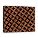 HOUNDSTOOTH2 BLACK MARBLE & RUSTED METAL Deluxe Canvas 20  x 16   View1