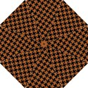 HOUNDSTOOTH2 BLACK MARBLE & RUSTED METAL Hook Handle Umbrellas (Small) View1