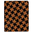 HOUNDSTOOTH2 BLACK MARBLE & RUSTED METAL Apple iPad Mini Flip Case View1