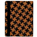 HOUNDSTOOTH2 BLACK MARBLE & RUSTED METAL Apple iPad Mini Flip Case View3