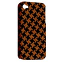 HOUNDSTOOTH2 BLACK MARBLE & RUSTED METAL Apple iPhone 4/4S Hardshell Case (PC+Silicone) View2