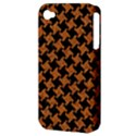 HOUNDSTOOTH2 BLACK MARBLE & RUSTED METAL Apple iPhone 4/4S Hardshell Case (PC+Silicone) View3