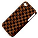 HOUNDSTOOTH2 BLACK MARBLE & RUSTED METAL Apple iPhone 4/4S Hardshell Case (PC+Silicone) View4