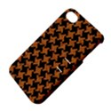 HOUNDSTOOTH2 BLACK MARBLE & RUSTED METAL Apple iPhone 4/4S Hardshell Case with Stand View4