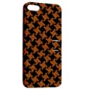 HOUNDSTOOTH2 BLACK MARBLE & RUSTED METAL Apple iPhone 5 Hardshell Case with Stand View2