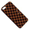 HOUNDSTOOTH2 BLACK MARBLE & RUSTED METAL Apple iPhone 5 Hardshell Case with Stand View5