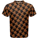 HOUNDSTOOTH2 BLACK MARBLE & RUSTED METAL Men s Cotton Tee View1