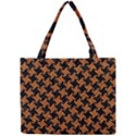 HOUNDSTOOTH2 BLACK MARBLE & RUSTED METAL Mini Tote Bag View1