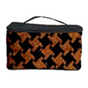 HOUNDSTOOTH2 BLACK MARBLE & RUSTED METAL Cosmetic Storage Case View1