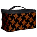 HOUNDSTOOTH2 BLACK MARBLE & RUSTED METAL Cosmetic Storage Case View2