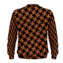 HOUNDSTOOTH2 BLACK MARBLE & RUSTED METAL Men s Sweatshirt View2