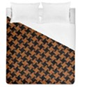 HOUNDSTOOTH2 BLACK MARBLE & RUSTED METAL Duvet Cover (Queen Size) View1