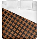 HOUNDSTOOTH2 BLACK MARBLE & RUSTED METAL Duvet Cover (King Size) View1