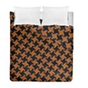 HOUNDSTOOTH2 BLACK MARBLE & RUSTED METAL Duvet Cover Double Side (Full/ Double Size) View1