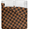 HOUNDSTOOTH2 BLACK MARBLE & RUSTED METAL Duvet Cover Double Side (King Size) View1