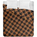 HOUNDSTOOTH2 BLACK MARBLE & RUSTED METAL Duvet Cover Double Side (California King Size) View1