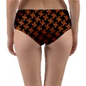 HOUNDSTOOTH2 BLACK MARBLE & RUSTED METAL Reversible Mid-Waist Bikini Bottoms View2