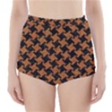 HOUNDSTOOTH2 BLACK MARBLE & RUSTED METAL High-Waisted Bikini Bottoms View1