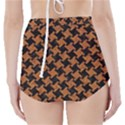 HOUNDSTOOTH2 BLACK MARBLE & RUSTED METAL High-Waisted Bikini Bottoms View2