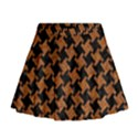 HOUNDSTOOTH2 BLACK MARBLE & RUSTED METAL Mini Flare Skirt View1