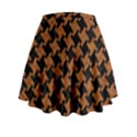 HOUNDSTOOTH2 BLACK MARBLE & RUSTED METAL Mini Flare Skirt View2