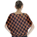 HOUNDSTOOTH2 BLACK MARBLE & RUSTED METAL Blouse View2