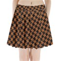 HOUNDSTOOTH2 BLACK MARBLE & RUSTED METAL Pleated Mini Skirt View1