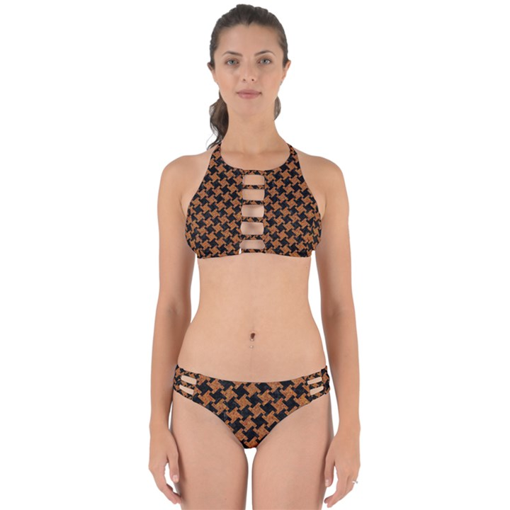 HOUNDSTOOTH2 BLACK MARBLE & RUSTED METAL Perfectly Cut Out Bikini Set