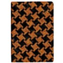 HOUNDSTOOTH2 BLACK MARBLE & RUSTED METAL Apple iPad Pro 9.7   Flip Case View1