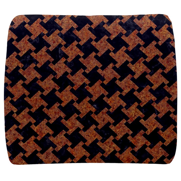 HOUNDSTOOTH2 BLACK MARBLE & RUSTED METAL Back Support Cushion