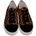 HOUNDSTOOTH2 BLACK MARBLE & RUSTED METAL Men s Low Top Canvas Sneakers View1